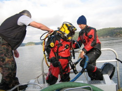 Commercial diving support services